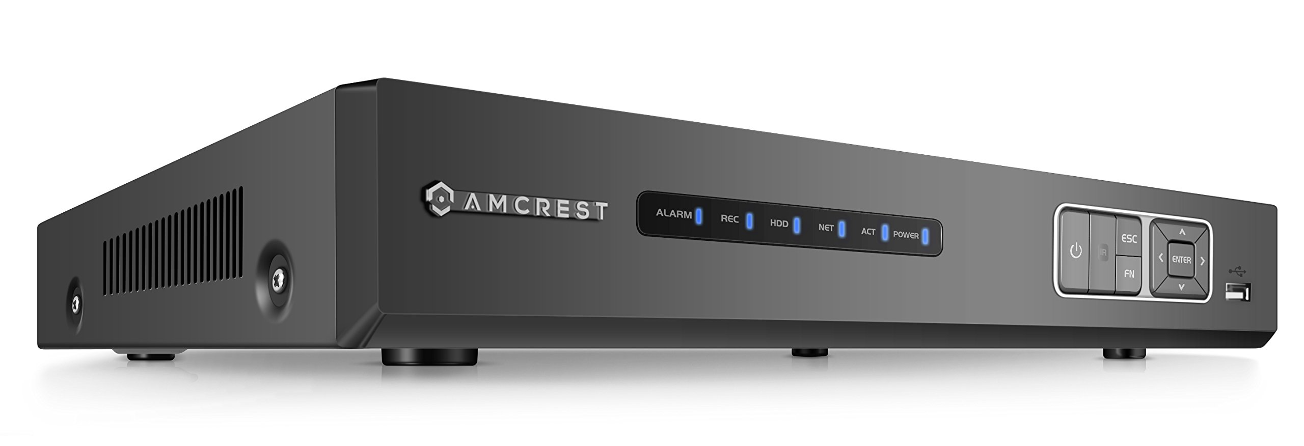 Amcrest 4MP HD-Analog 4CH Video Security DVR Digital Recorder, UltraHD 4-Channel 4 Megapixel, HD Analog, Hard Drive & Cameras NOT Included, Remote Smartphone Access, Security Camera System (AMDV4M4)