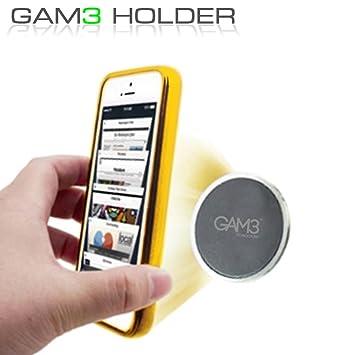Gam3 Universal soporte magnético de coche soporte para teléfono/Smartphone soporte de coche para iPhone 7/6/6S/5S/5 C/5/Sony Xperia/Samsung Galaxy S6/Huawei/Xiaomi/One Plus: Amazon.es: Electrónica