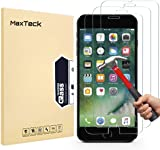 """MaxTeck [3 Pack] iPhone 8 Plus 7 Plus Screen Protector, 0.26mm 9H Tempered Glass Screen Protector Anti-Shatter Film for iPhone 7 Plus 8 Plus 5.5"""" inch [3D Touch Compatible]"""