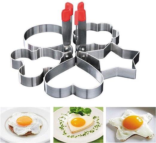 Egg Ring Mold 1PC Stainless Steel Egg Ring Cooker Non Stick Fried Egg Poachers Eggs Shaping Kitchen Cooking Tool Egg Maker Molds