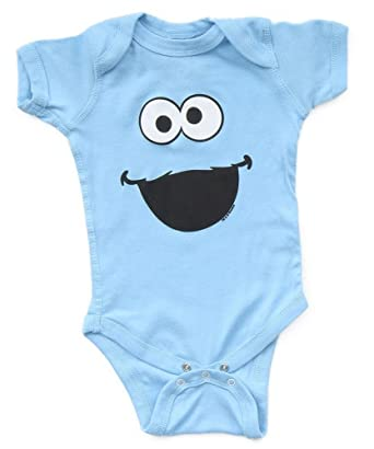 1a348f835315 Amazon.com  Sesame Street Cookie Monster Big Face Blue Infant Baby ...