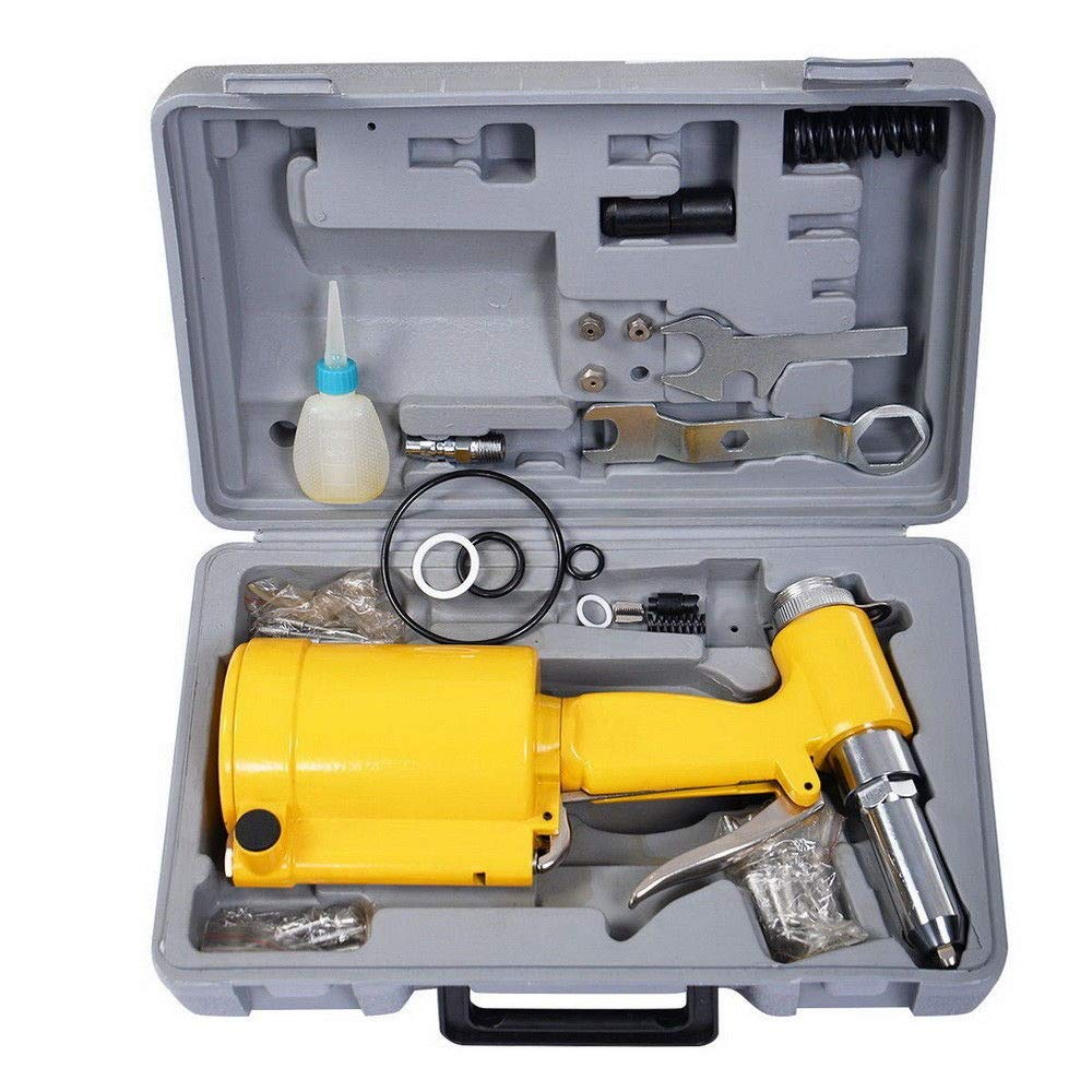 Fast, Rugged for Industrial, Production, Personal Use with Air Relief Valve Protects from Overloading, Durability, Dependability Powerful Riveter Rivet Air Gun Hydraulic Pop Pneumatic 3 Riveting 3/16''