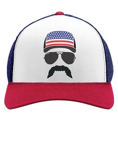 5976728e0 Tstars American Flag Cap hat - Cool 4th of July Merica USA Trucker Hat Mesh  Cap