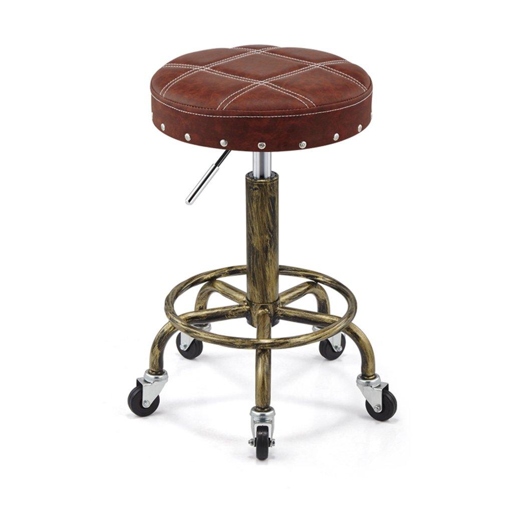 IAIZI レトロ防爆リフト回転美容椅子美容スツールスツールスライディング車椅子メイクスツール爪スツール (色 : B) B07DNCFKQW B B