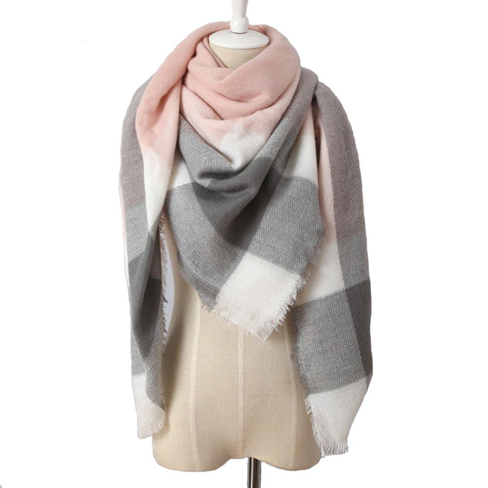 Damen Herbst Winter Schal Imitation Kaschmir Kariert Deckenschal 140*140cm