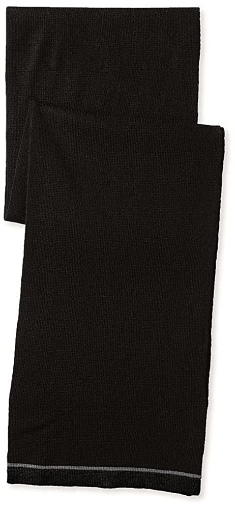 Van Heusen Adult Unisex Scarf Stripe Accent Solid Black Pacifico One Size