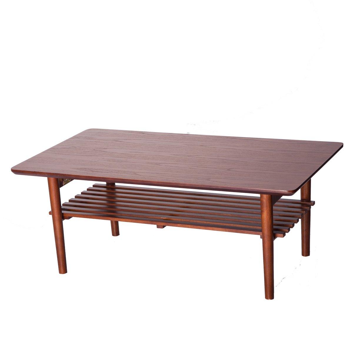 (OSJ) センターテーブル ローテーブル コーヒーテーブル ちゃぶ台 (90X50CM) WF035701 (ブラウン) B073BDX5DX  ブラウン
