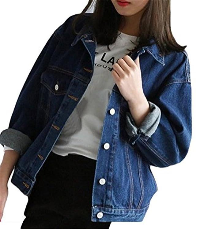 Emin Frauen Herbs Kurz Denim Jacket Damen Oversize Mädchen