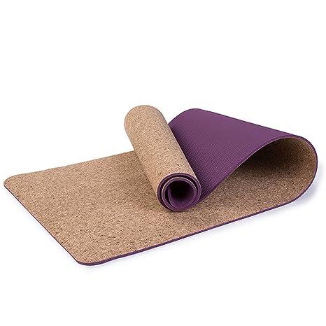 Amazon.com : Cork Yoga Mat - Eco-Friendly TPE Non-Slip ...