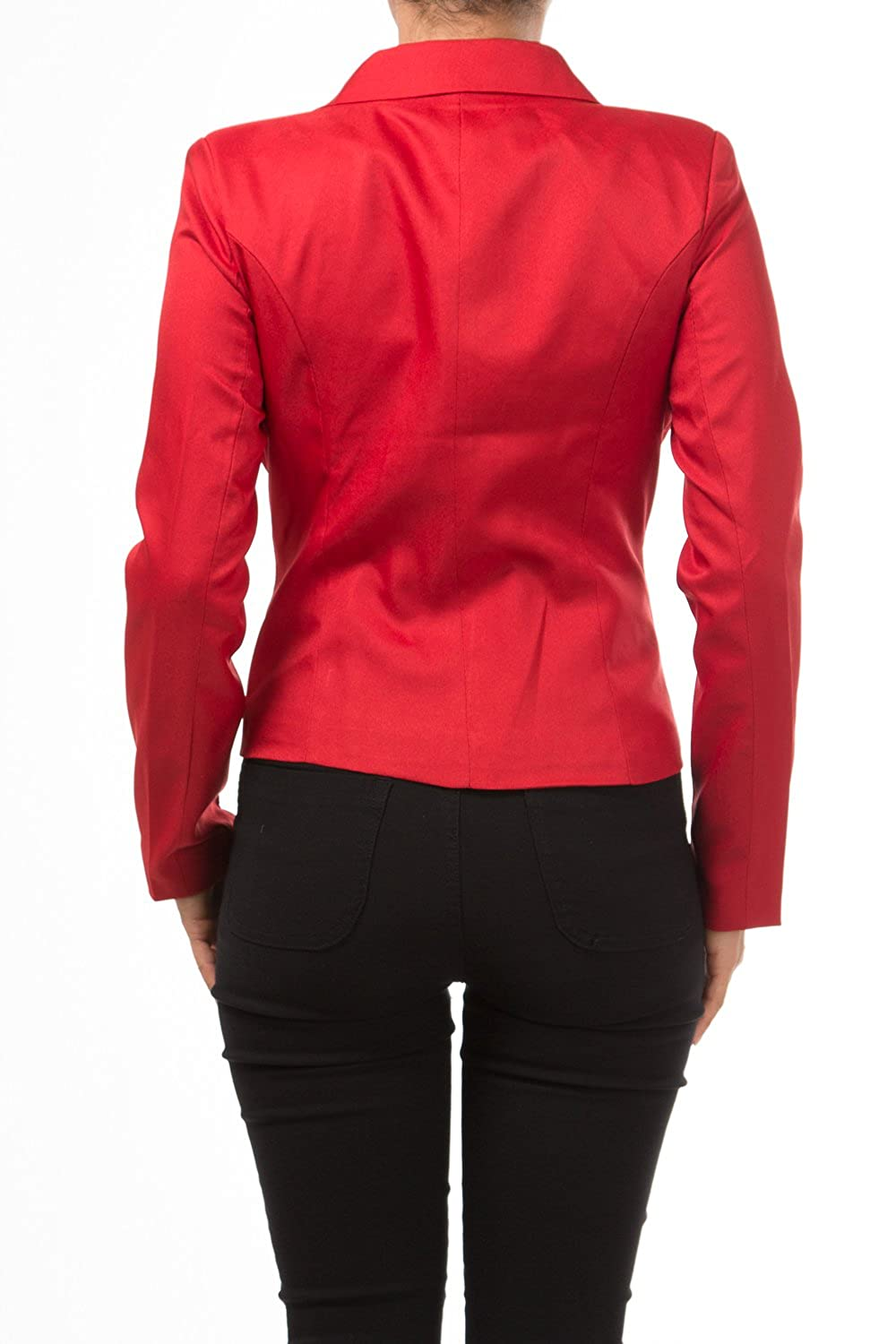Leather jacket olx - Amazon Com Bangbangusa Womens Formal Solid Color Blazer Jacket With Notched Collar And 2 Pockets Clothing