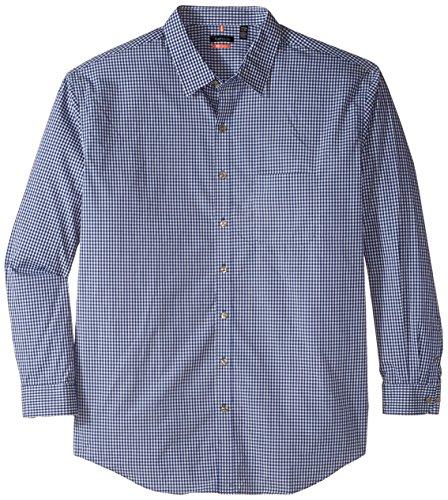 Van Heusen mens big-tall Big-tall Long Sleeve Studio Button Up Shirt In Mazarine Blue