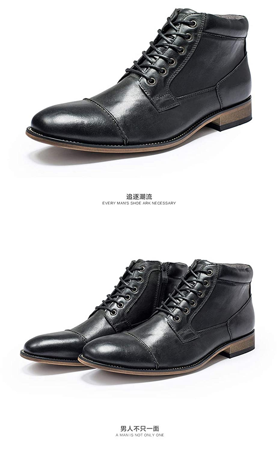 Casual Shoes in Autumn and Winter Genuine Leather Men Leather Shoes Ankle Winter Boots Chelsea Boot