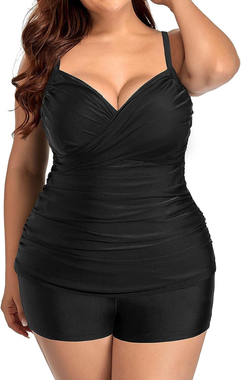 Aqua Eve Women Plus Size Tankini Tu Neck Shorts Max NEW before selling 49% OFF V Swimsuits with