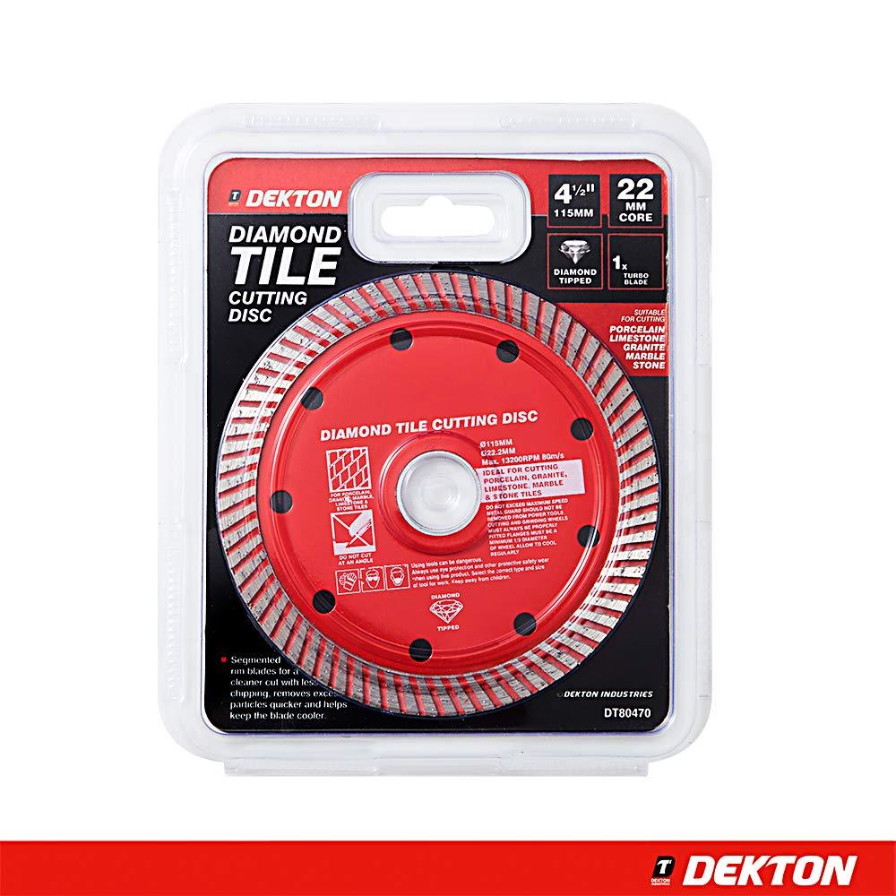 DEKTON DT80470 Diamond Tile Cutting Disc 4.5-inch Black//Red