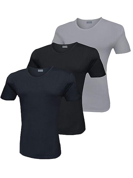 Liabel Girocollo Uomo Pezzi Elasticizzante 3 Colori Shirt T If7vY6ybg