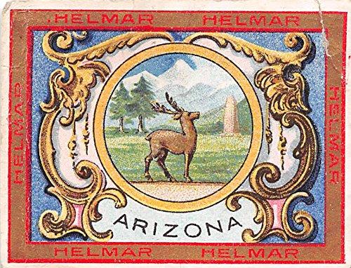 Arizona 1909 Helmar Cigarettes Seals & Coats of Arms (FAIR) ripped corner