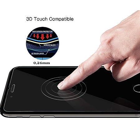 [3-Unidades] iPhone 7 Plus protector de pantalla, Modohe 0.26mm 9H templado pantalla inastillable Protector de cristal para iPhone 7 Plus [3D toque ...