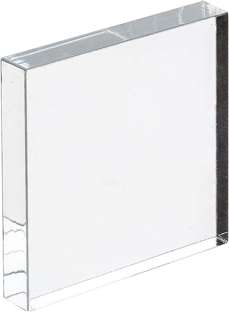 Acrylglas-Zuschnitt Quadratisch glasklar bruchfest /& vielseitig anwendbar beidseitig foliert 10 mm stark transparente Acrylglas- Plexiglas-Platte gepr/üfter UV-Schutz 124x124 mm