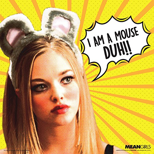 Mean Girls Karen Mouse Duh Teen Comedy Movie Film Poster Print 12 by 12 (Regina George Costumes)