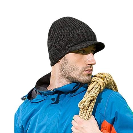 f044286977a Dig dog bone Beanie Hat Mens Winter Solid Color Warm Knit Ski Skull Cap  (Color