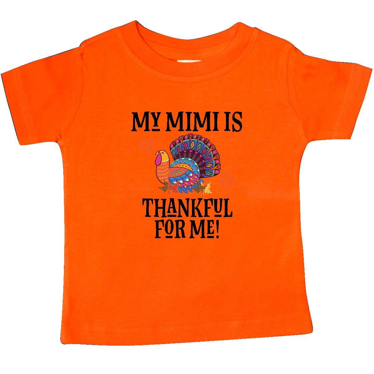 inktastic Thanksgiving Mimi Thankful for Me Turkey Baby T-Shirt