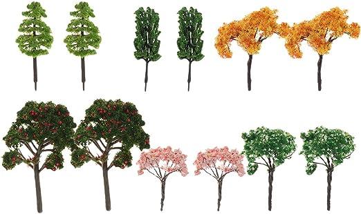 Yardwe 12 UNIDS Adornos de Plantas de Árbol de Jardín de Hadas en Miniatura, Árboles Artificiales en Miniatura para Decoración de Interiores Plantas Falsas en Miniatura: Amazon.es: Jardín