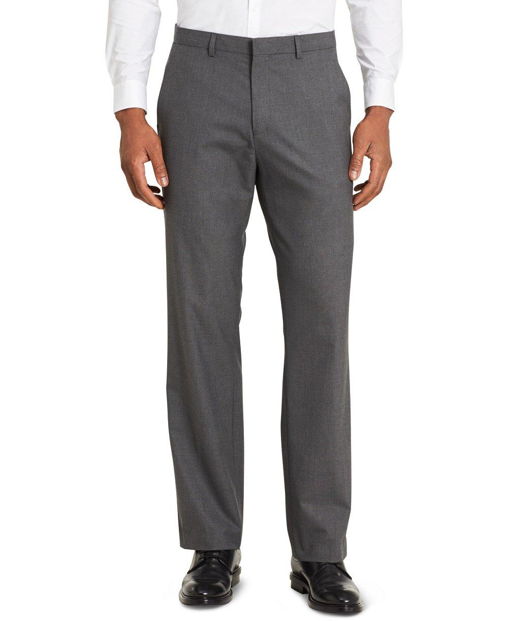 Calvin Klein Men's Infinite Slim Fit Trouser Suit Pant 4-Way Stretch, Iron Gate, 42W 32L
