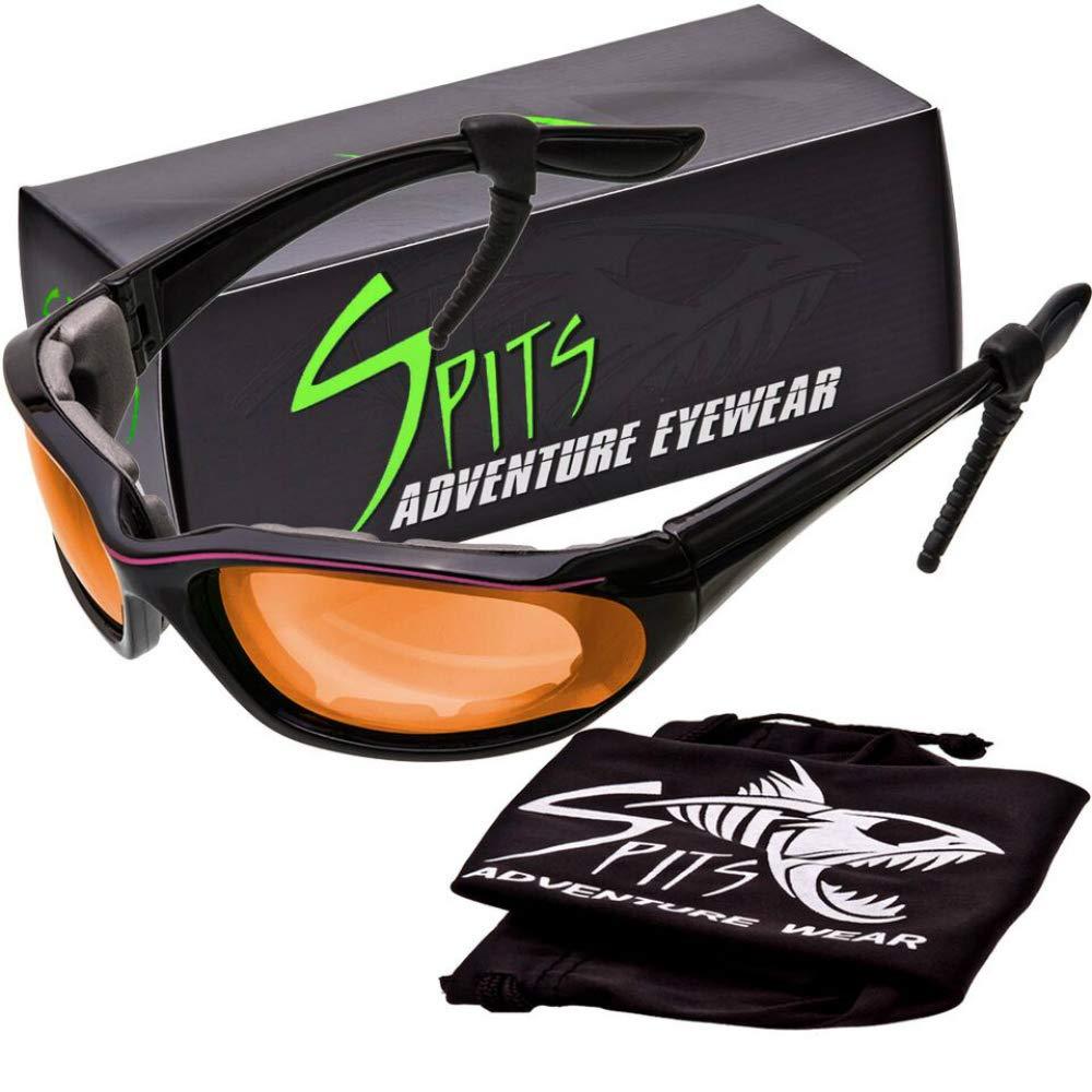in Pink Stripe Accent Spits Eyewear Kickstand IISmall Frame Foam Padded Sunglasses Blue Blocker