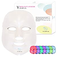 Pro 7 Color LED Face Mask Photon Light Skin Rejuvenation Therapy Korean Skin Care...