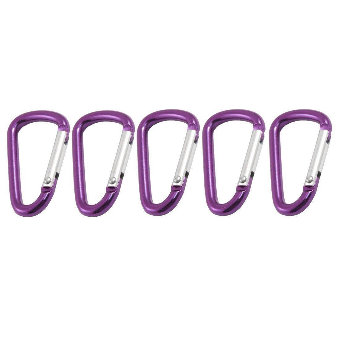 Dcolor 5 x mousquetons en alliage daluminium En forme de D Violet