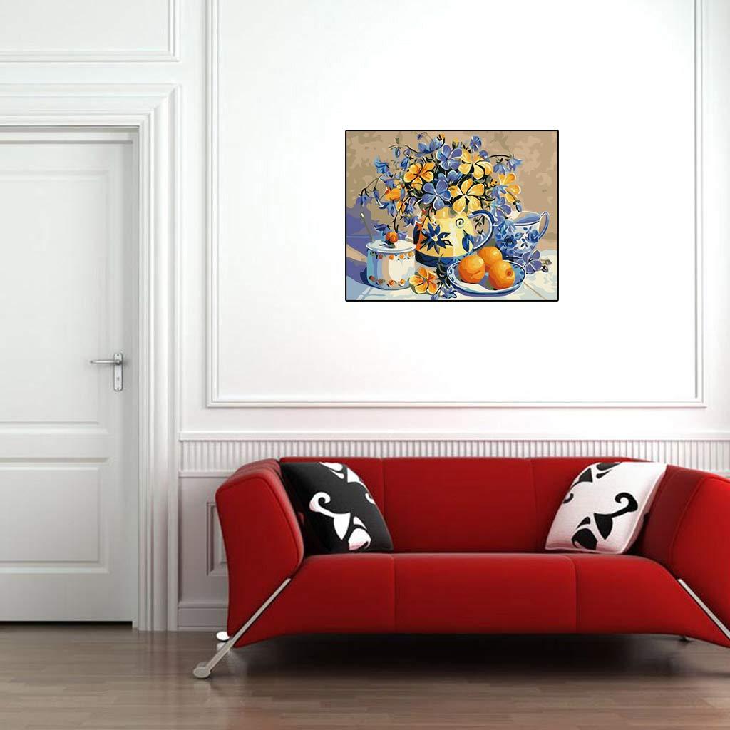 Pittura a Olio Digitale Fai da Te con i Numeri ZhangzhiyuPansy Senza Cornice per Decorare la casa