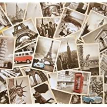 32 PCS 1 Set Vintage Retro Old Travel Postcards for Worth Collecting [Style 1 ]