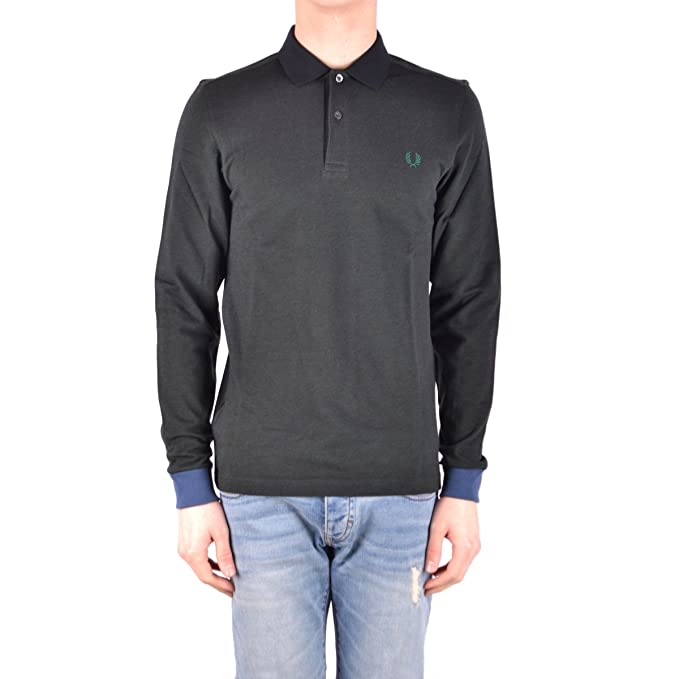 Fred Perry El hombre polo de manga larga SM1602 D44 COLOR BLOCK ...