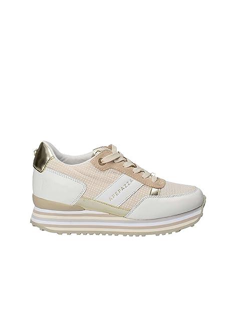 El Más Barato Para La Venta Apepazza Scarpe Sneaker Donna Pelle Bianca Tessuto Rosa E Oro Fondo Rialzo RSD15 Taglia - 41 Comprar Barato Popular IlmZ0AnU
