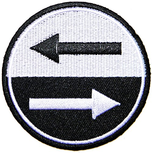 SKA MOD Arrow Rockabilly Raggae Hippie Punk Rock Tatoo Jacket T-shirt Patch Sew Iron on Embroidered Sign Badge]()