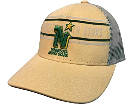 81c6960b12195 Image Unavailable. Image not available for. Color  adidas Minnesota North  Stars Yellow CCM Vintage Mesh Structured Snapback Hat Cap