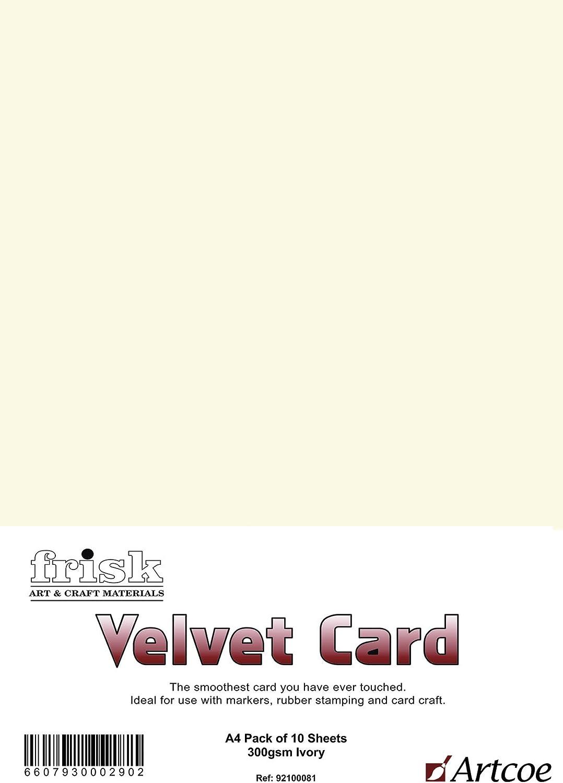 Frisk Velvet Card 300gm White A4 Pk10