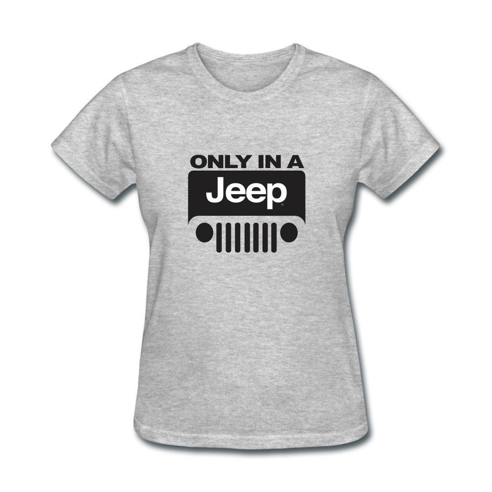 Women/'s Fashion Jeep Wrangler Logo only in a jeep Sleeve T-shirt