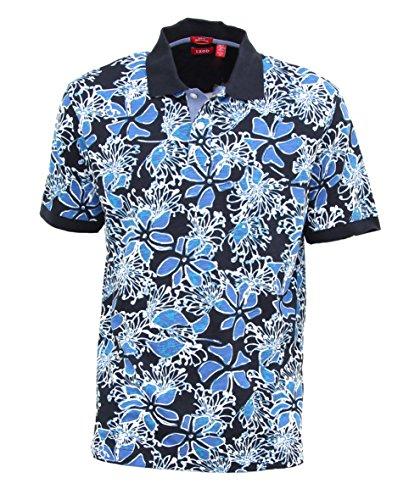 IZOD Men's Printed Slim Fit Mali B Polo Shirt-Midnight-XXL