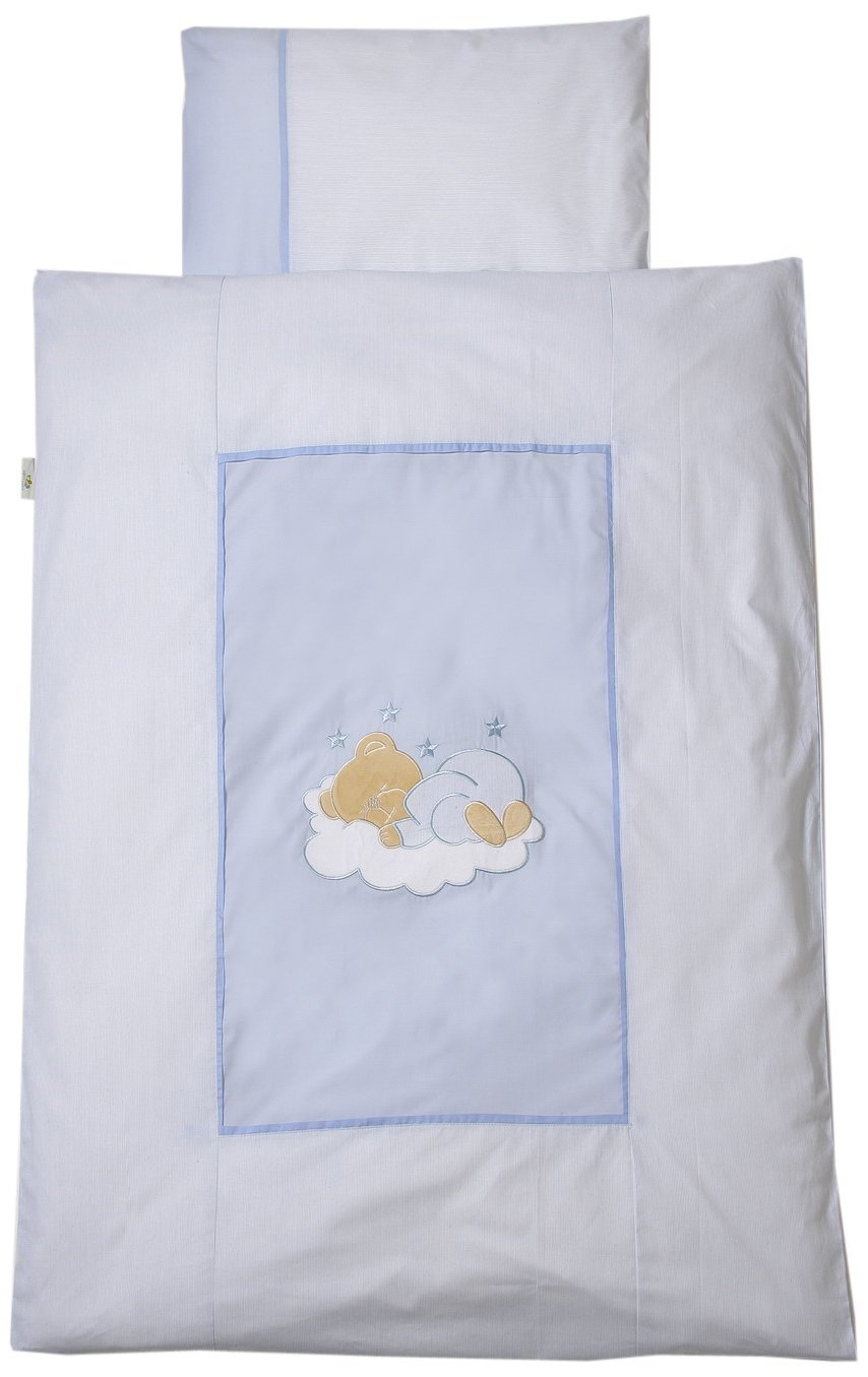 Easybaby 415-81 Bettwäsche 80 x 80 cm, Sleeping Bear Blau