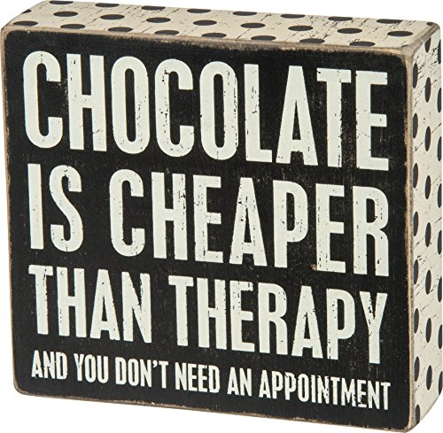 Primitives by Kathy Polka Dot Trimmed Box Sign, Chocolate Cheaper