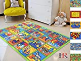 Handcraft Rugs-Game Carpets for Kids, Kids Toy, Kids learning rug, Kids Floor Rug Learning Alphabet Non-Slip / Gel Back Kids Bedroom / Classroom Carpet 8 ft. by 10 ft.