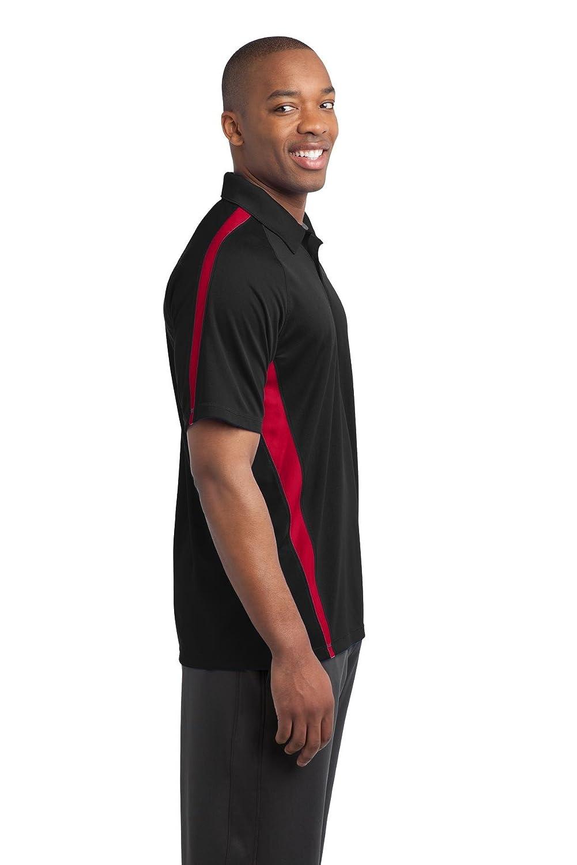 Sport-Tek/® PosiCharge/™ Micro-Mesh Colorblock Polo Black// Red XXXX-Large