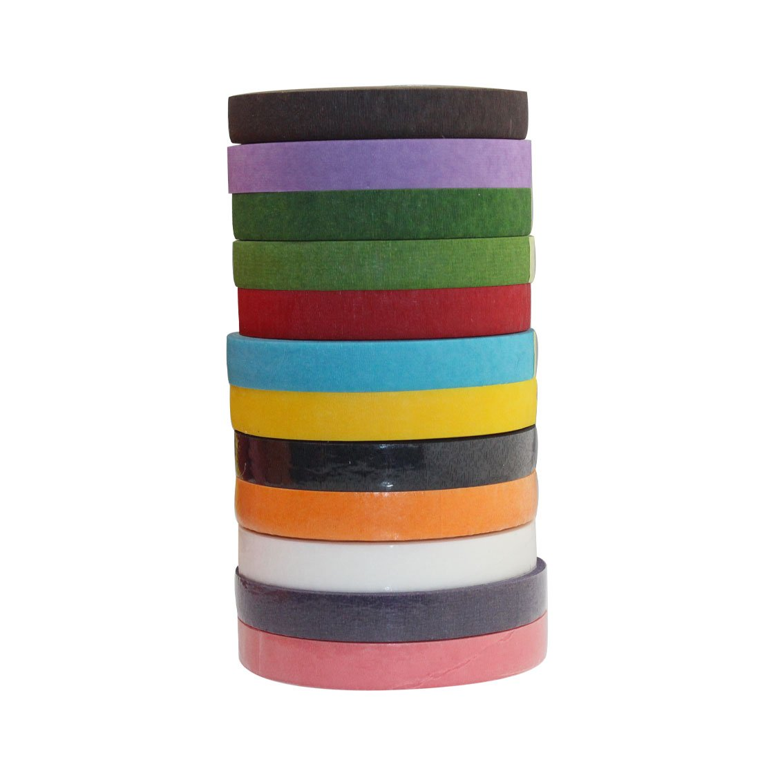 DECORA a Dozen 1/2-inch by 30 Yard Color Floral Tape for Bouquet Stem Wrap Floral Arranging Craft Projects Corsages, Wedding Bouquet