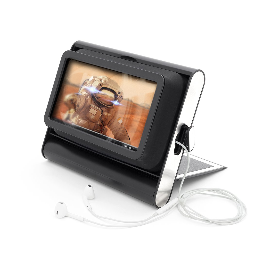 Phone Screen Magnifier - 7 Inch Cell Phone Magnifier - Cell Phone Movie Screen With Built In Flip Stand, 2X Magnification by Luckies of London Ltd