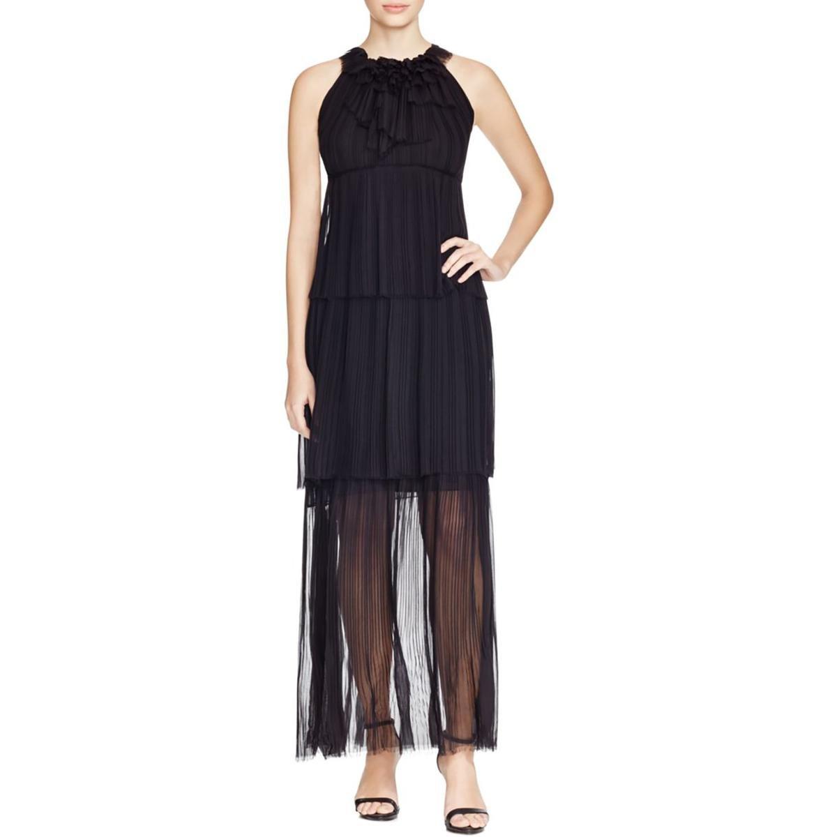6f0b8a390a96b Elie Tahari Women's Chiffon Sheer Formal Dress Black XS at Amazon Women's  Clothing store: