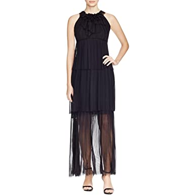c5d535e4c7505 Image Unavailable. Image not available for. Color: Elie Tahari Women's  Chiffon Sheer Formal Dress ...