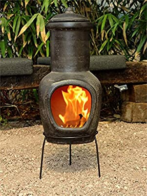 Clay Barbecue and Fireplace, 13x32.3inc, Brown, Ground BBQ, Outdoor Safetly Cooking, Natural, Decorative, Portable, Pottery Barbecue, Gift