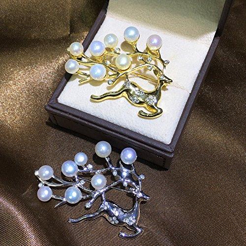 Corsage / brooch pin accessories deer burst models hot models deer semi-finished mountings pearl brooch women girls care