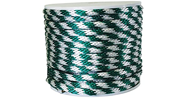 """Wellington Derby Rope Poly 450 Lb White 5//8 /"""" Dia X 200 /' Solid Braid Red"""